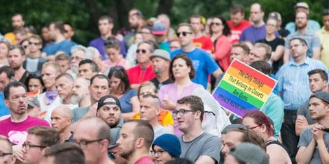 Une veillée à Minneapolis pour les victimes de l'attaque d'Orlando. © FibonacciBlue