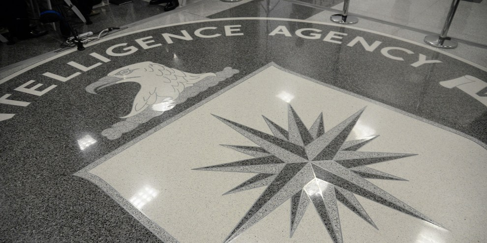 Logo de la CIA. © Olivier Doulier - Pool/Getty Images
