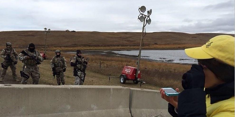 Le projet d'oléoduc Dakota Access menace les conditions de vie de peuples indigènes tels que la tribu sioux de Standing Rock. © Amnesty International USA