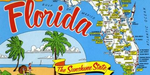 Carte postale datée d'avant le rétablissement de la peine de mort en 1976. © State Archives of Florida