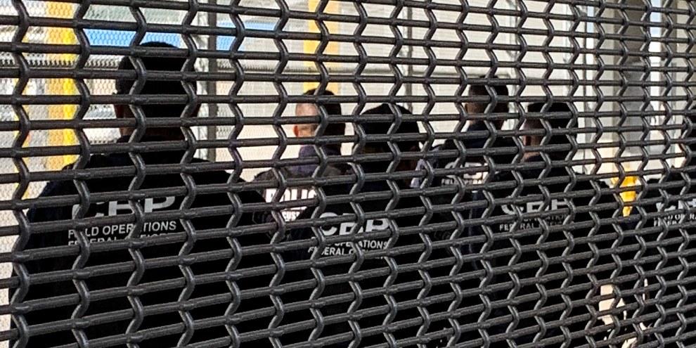 Demandeurs d'asile à Tijuana, ville mexicaine à la frontière des Etats-Unis. © AI