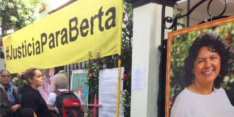 Action «Justice pour Berta Cáceres» © Amnesty International