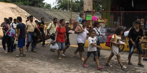 D'après les pouvoirs publics de la ville de Mexico, les enfants représentaient plus d'un tier des personnes recensées au centre d'accueil. © Amnesty International