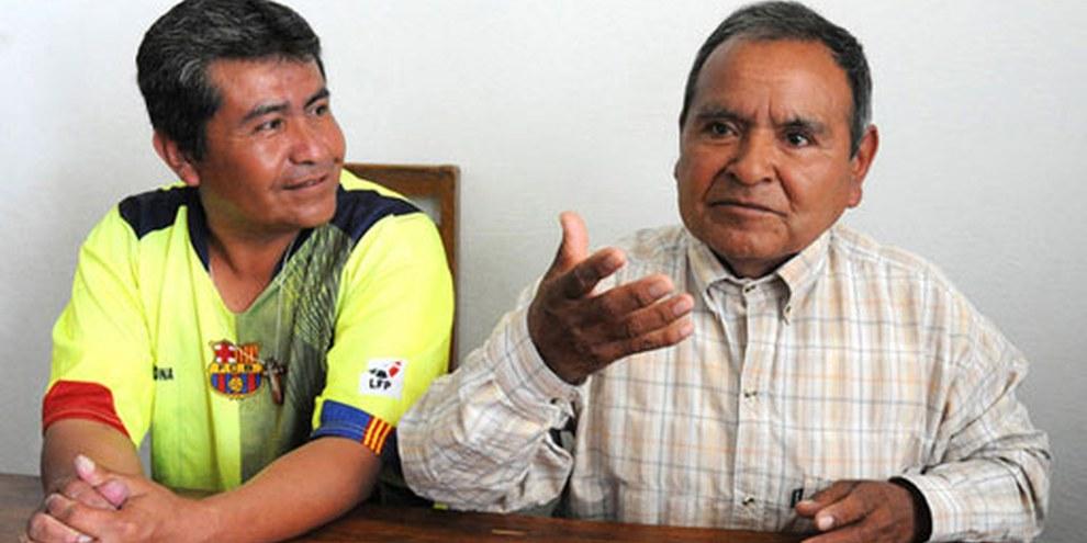 Pascual Agustín Cruz et José Ramón Aniceto Gómez doivent être libérés. Cereso de Huauchinango, Puebla, Mexique, 28 Mars 2012.  © AI/Ricardo Ramírez Arriola
