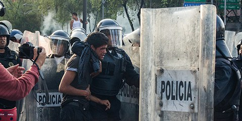 Le 26 septembre 2014, 6 personnes ont été abattues à Iguala. 30 suspects ont été arrêtés, dont 22 policiers municipaux. © Daniel Guerrero
