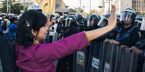 Répression policière, brutalité et torture au Mexique sont les symptômes d'un gouvernement qui ne respecte pas les droits humains.© Daniel Guerrero