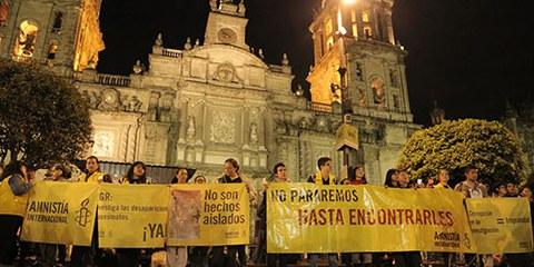 L'enquête menée par les autorités mexicaines sur la disparition de 43 étudiants est sérieusement mise en doute par de nouvelles expertises médicolégales. © Amnistia Internacional México/Alonso Garibay