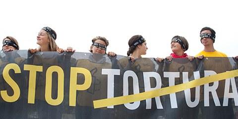 Amnesty s'engage, dans le cadre d'une campagne mondiale, pour que les victimes de torture obtiennent justice. © Amnesty International