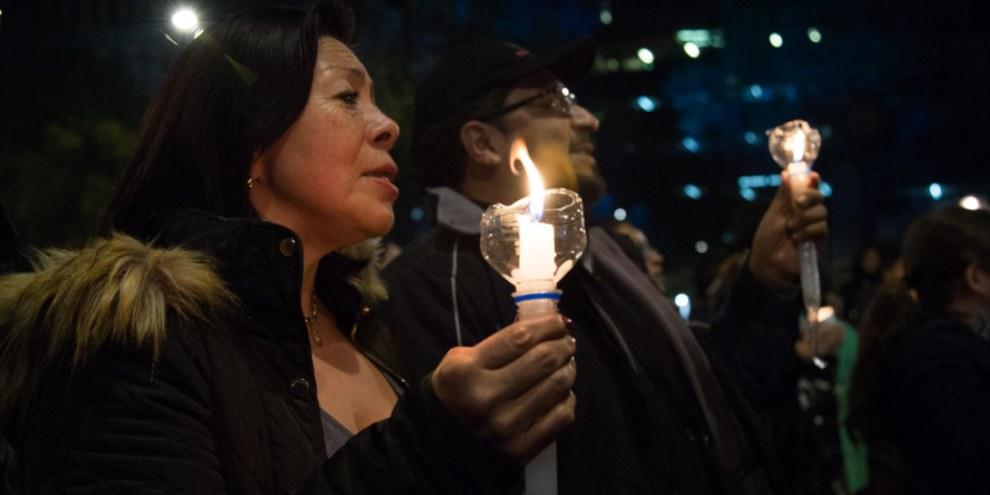 La Loi sur la sécurité intérieure a donné lieu à des protestations de la part de la population. © Amnesty International/Itzel Plascencia