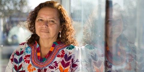 Morena Herrera, directrice de l'«Agrupacion Ciudadana», combat pour faire respecter les droits des 17 femmes incarcérées. © AI