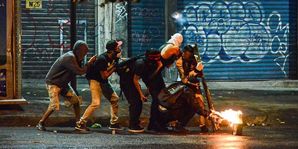 Lors des manifestations anti-gouvernementales de février 2014, quarante-trois personnes sont mortes et huit cent septante-huit autres ont été blessées.© Carlos Becerra