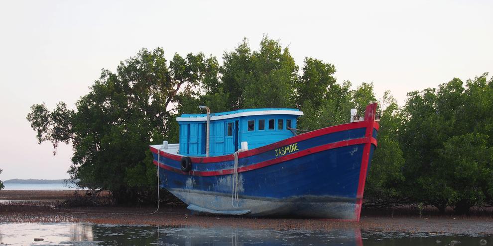 Plusieurs demandeurs d'asile en Indonésie ont raconté avoir fait l'objet de renvois forcés illégaux en mer par des garde-côtes australiens, qui avaient selon eux infligé des violences verbales et physiques aux passagers. © Amnesty International