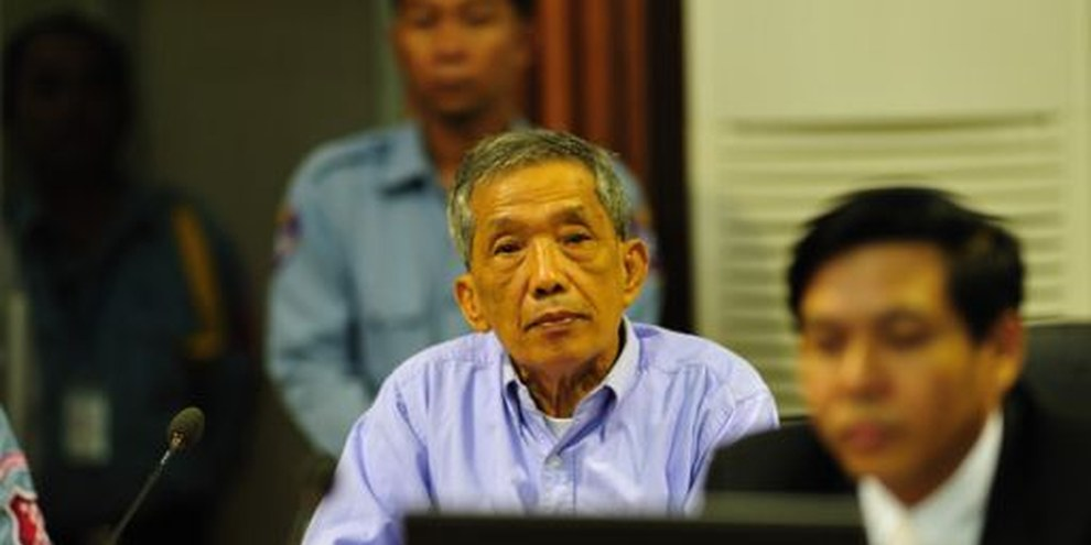 L'ancien directeur de la prison S-21, connu sous le nom de Douch. © Extraordinary Chambers in the Courts of Cambodia