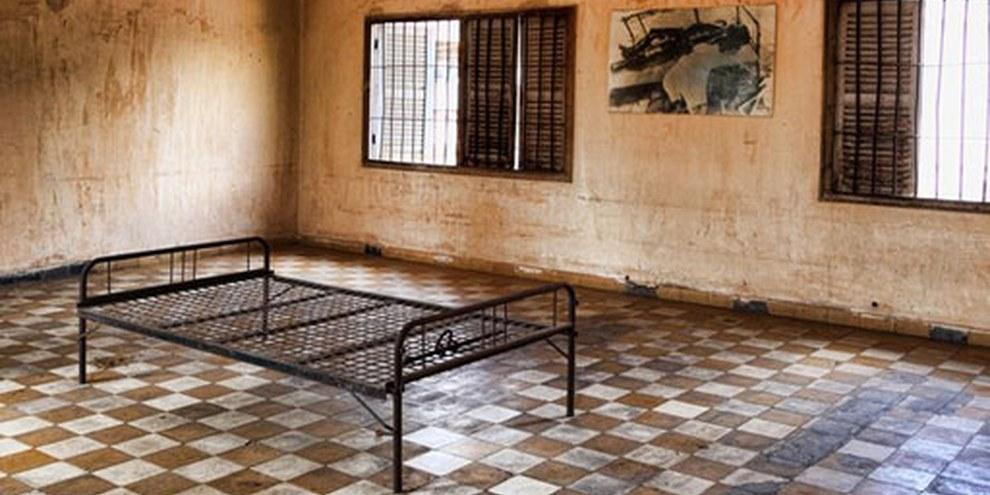 Douch est tenu responsable de la mort d'au moins 12,272 personnes lorsqu'il dirigeait la prison secrète des Khmers rouges. © Ian Kydd'Miller/Demotix