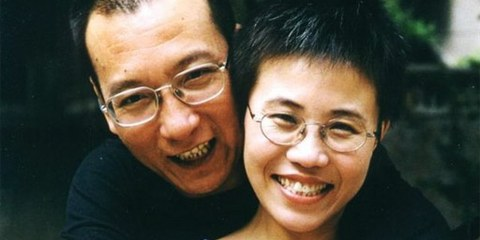 Liu Xiaobo en compagnie de son épouse, août 2001.  © DR