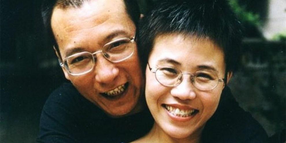 Liu Xiaobo et son épouse Liu Xia, août 2001. © Privat