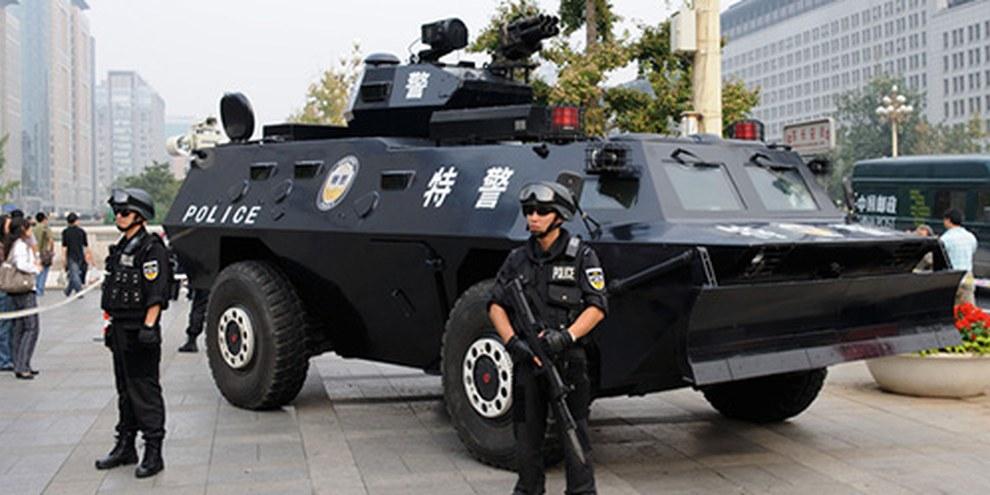 Le gouvernement chinois a interdit l'accès à la place Tiananmen à l'approche de la date-anniversaire. © Demotix/Steve Barru