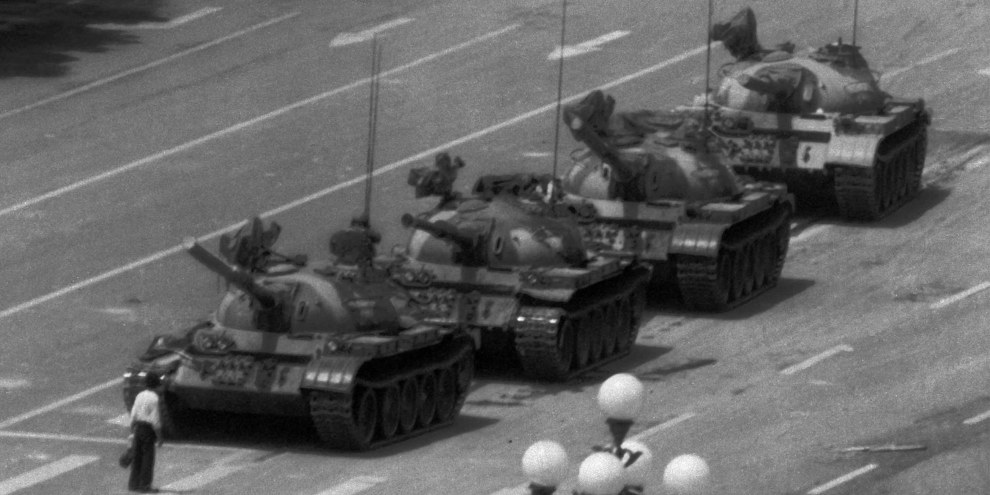 4 juin 1989, place Tiananmen, Pékin © Jeff Widener/AP/REX/Shutterstock