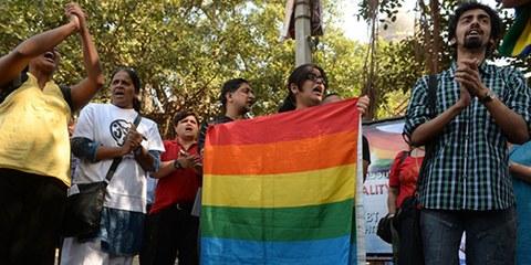 L'arrêt de la Cour suprême devrait mener à l'abrogation de l'incrimination de l'homosexualité en Inde.  © PUNIT PARANJPE/AFP/Getty Images