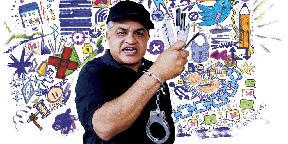 Zulkiflee Anwar Ulhaque alias «Zunar» © Amnesty International (Image de campagne)