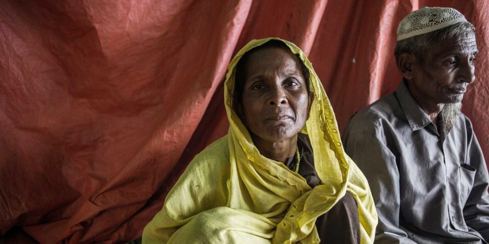 Plus de 530 000 Rohingyas – hommes, femmes et enfants – ont fui ces dernières semaines le nord de l'État d'Arakan, où les forces de sécurité du Myanmar mènent une campagne ciblée, se livrant à des meurtres, des viols et des incendies généralisés et systématiques. © Andrew Stanbridge / Amnesty International