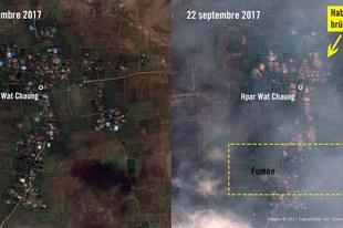 Villages rohingyas ravagés par de nouveaux incendies