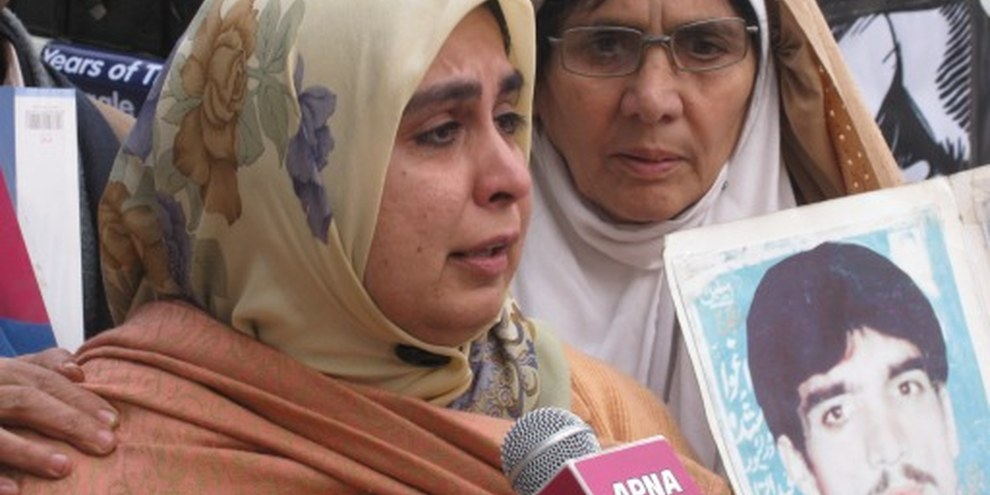 Amina Masood Janjua, la femme d'un disparu. © Defence Human Rights