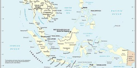 L'Asie du Sud-Est (d'après une carte de l'Onu).