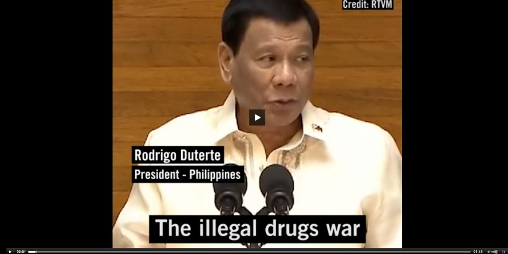 La «guerre contre la drogue» de Duterte