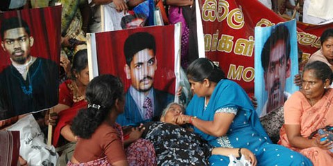 Une manifestation contre les disparitions forcées, qui sont monnaie courante dans le pays. © Irinnews