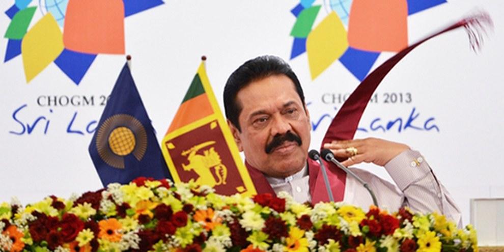 Le gouvernement du président Mahinda Rajapaksa a profité de la modification de la Constitution pour renforcer son pouvoir. © Ishara KODIKARA/AFP/Getty Images