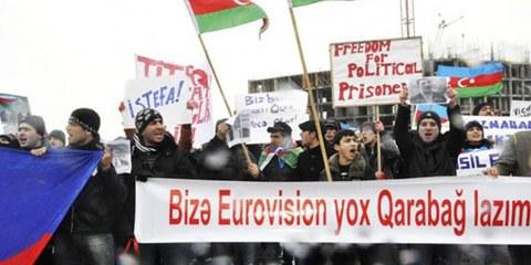 Les voix de l'opposition se font entendre peu avant le coup d'envoi de l'Eurovision. © IRFS