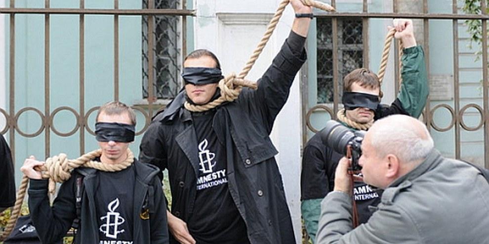 Action de rue contre la peine de mort en Biéorussie © AI