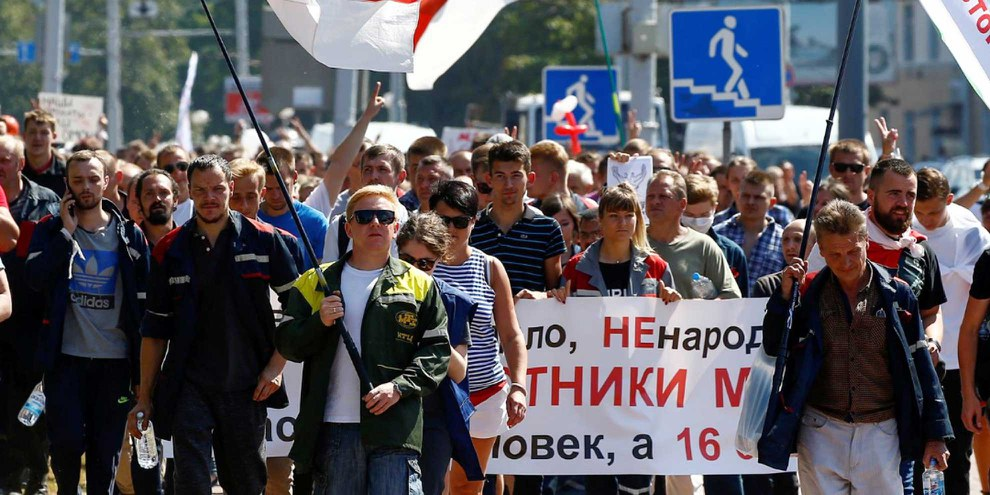 Photos de la «march for freedom»  © Amnesty International