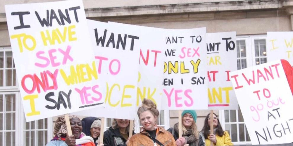Action d'AI-Danemark en vue de la publication d'un rapport sur la violence sexuelle © Amnesty International Danemark