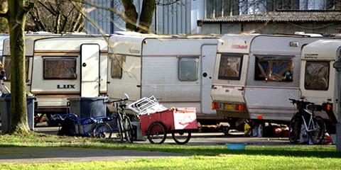 Plus de 200 Roms vivant près de Bobigny seront expulsés de force de chez eux, beaucoup ne seront pas relogés. © Amnesty International