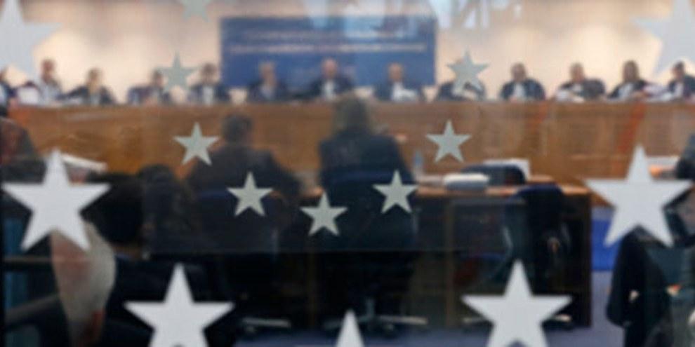 Salle plénière de la Cour européenne des droits de l'homme, avant que l'arrêt ne soit délivré. © REUTERS/Vincent Kessler