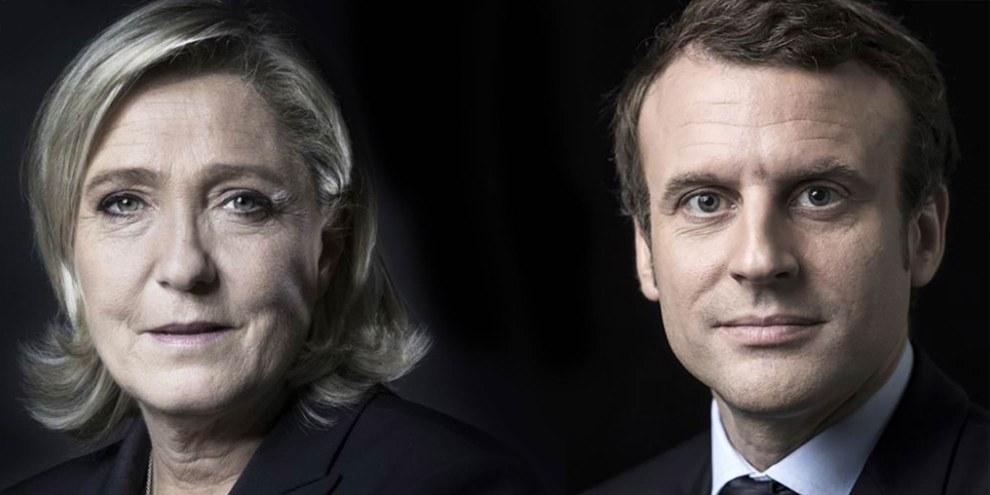 Emmanuel Macron © AFP/JOEL SAGET - Marine Le Pen