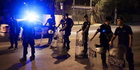 Racisme, traitements dégradants réservés aux migrants, les comportements illégaux des fonctionnaires de police grecs sont légion.  © EUROKINISSI/AFP/Getty Images
