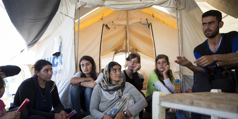 Kurtey Ismaed, une femme yézidie du nord de l'Irak est réfugiée dans le camp de Nea Kavala au nord de la Grèce, 11 juillet 2016. Amnesty International Richard Burton