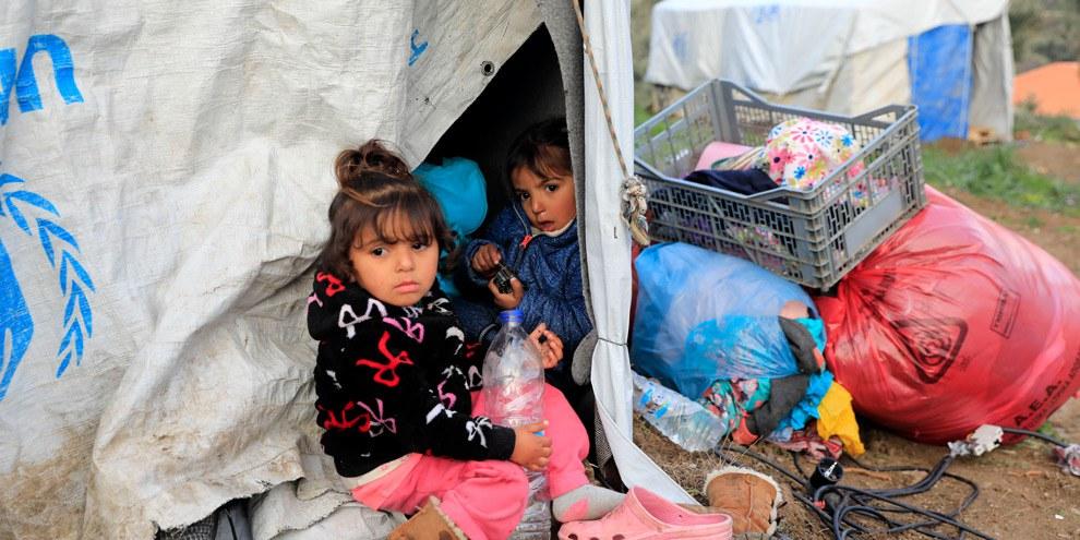 Camp de Moria, à Lesbos en Grèce. © Giorgos Moutafis/Amnesty International