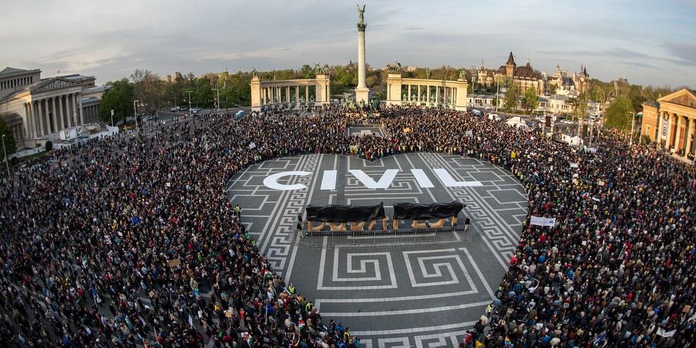 Manifestation à Budapest. © Gergo Toth
