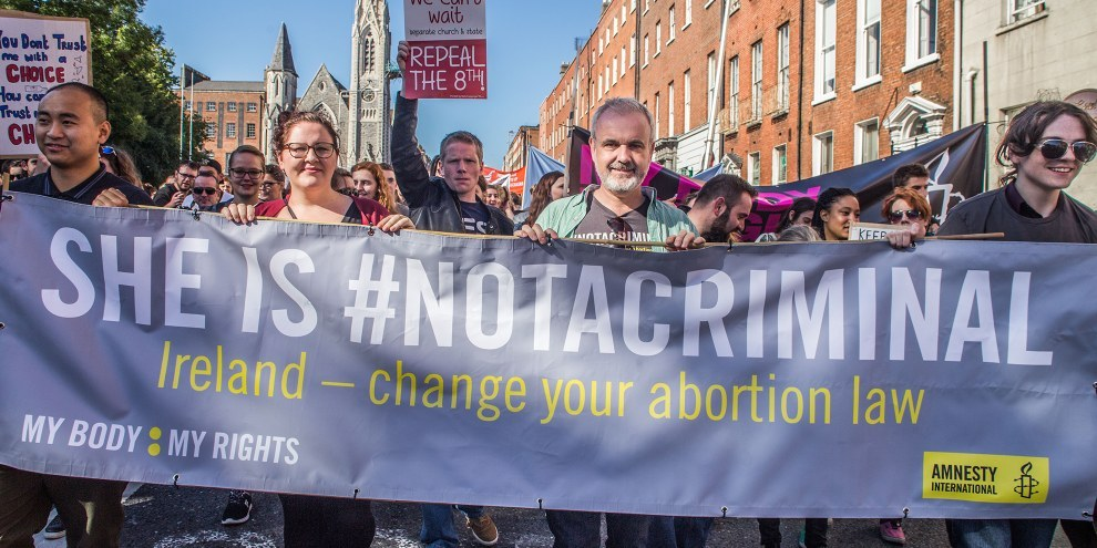 Le Comité a estimé que les lois irlandaises sur l'avortement avaient soumis une femme privée d'interruption de grossesse à un traitement cruel, inhumain et dégradant et à une discrimination. © Amnesty International Ireland
