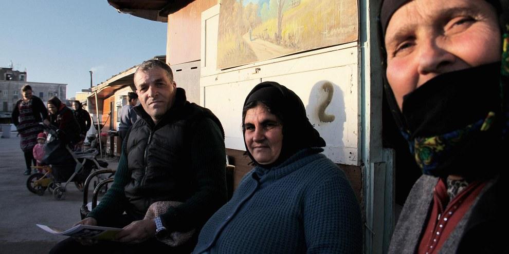 Une famille rom du campement de Gianturco risque d'être expulsée de force car le terrain sur lequel est situé le campement informel à Naples est réclamé.© Amnesty International / Claudio Menna