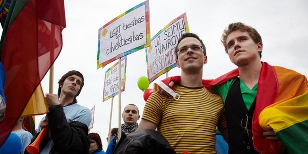 Il y a trois ans, la première Baltic Pride avait presque été empêchée par les autorités. © Kåre Viemose