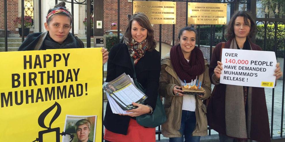 L'Ambassade d'Ouzbékistan à Bruxelles n'a pas réservé d'accueil à Amnesty International. © Amnesty International