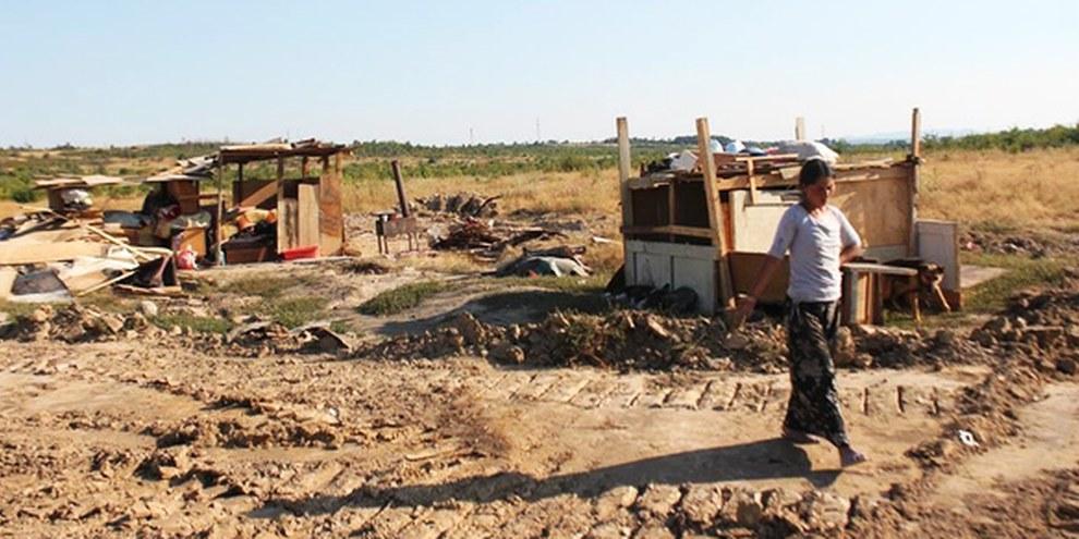 En 2013, les communautés roms ont été victimes de nombreuses expulsions forcées. © Sanse Egale/ Romani CRISS