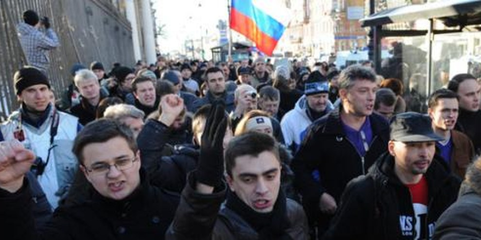 Les Russes veulent bénéficier de leurs droits fondamentaux. © Yury Goldenshteyn/Demotix