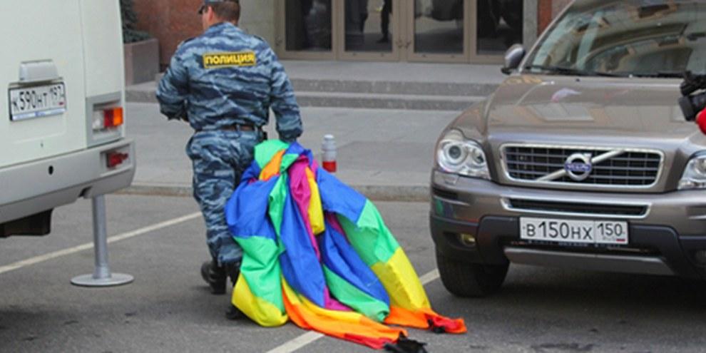 Un climat d'intolérance envers la communauté LGBTI règne en Russie. © AI