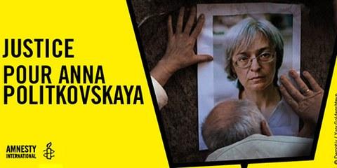 La Semaine d'action coïncide avec le 8e anniversaire de l'assassinat de la journaliste russe d'investigation Anna Politkovskaïa, l'une des plus ferventes critiques du Kremlin. © Demotix /Yury Goldenshteyn